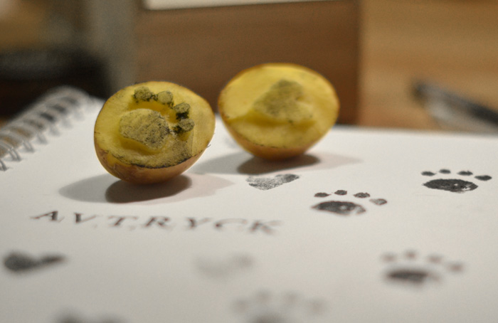 potatistryck potatis