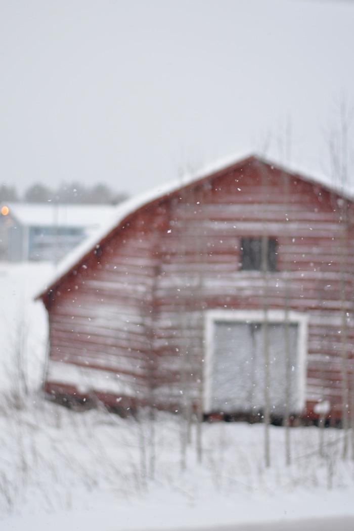 Loge snöfall