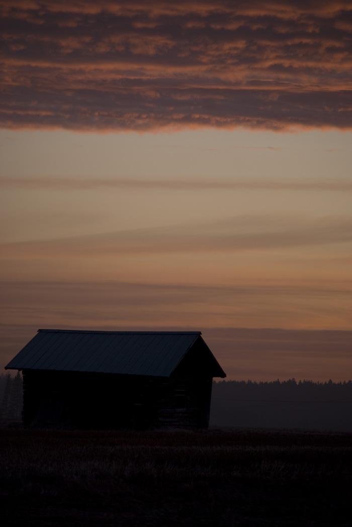 Lada i solnedgång