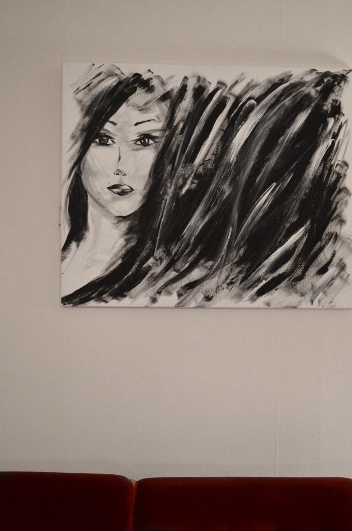 målad tavla