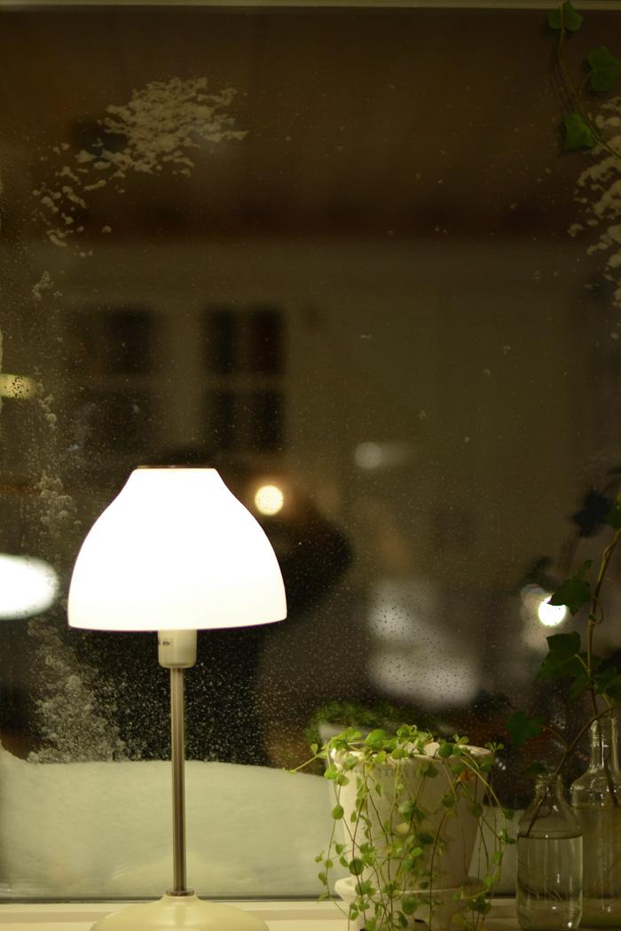 Snöigt fönster