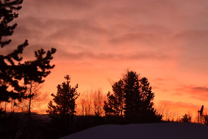 Soluppgång i februari