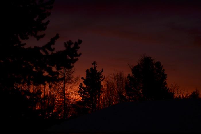 Soluppgång februari