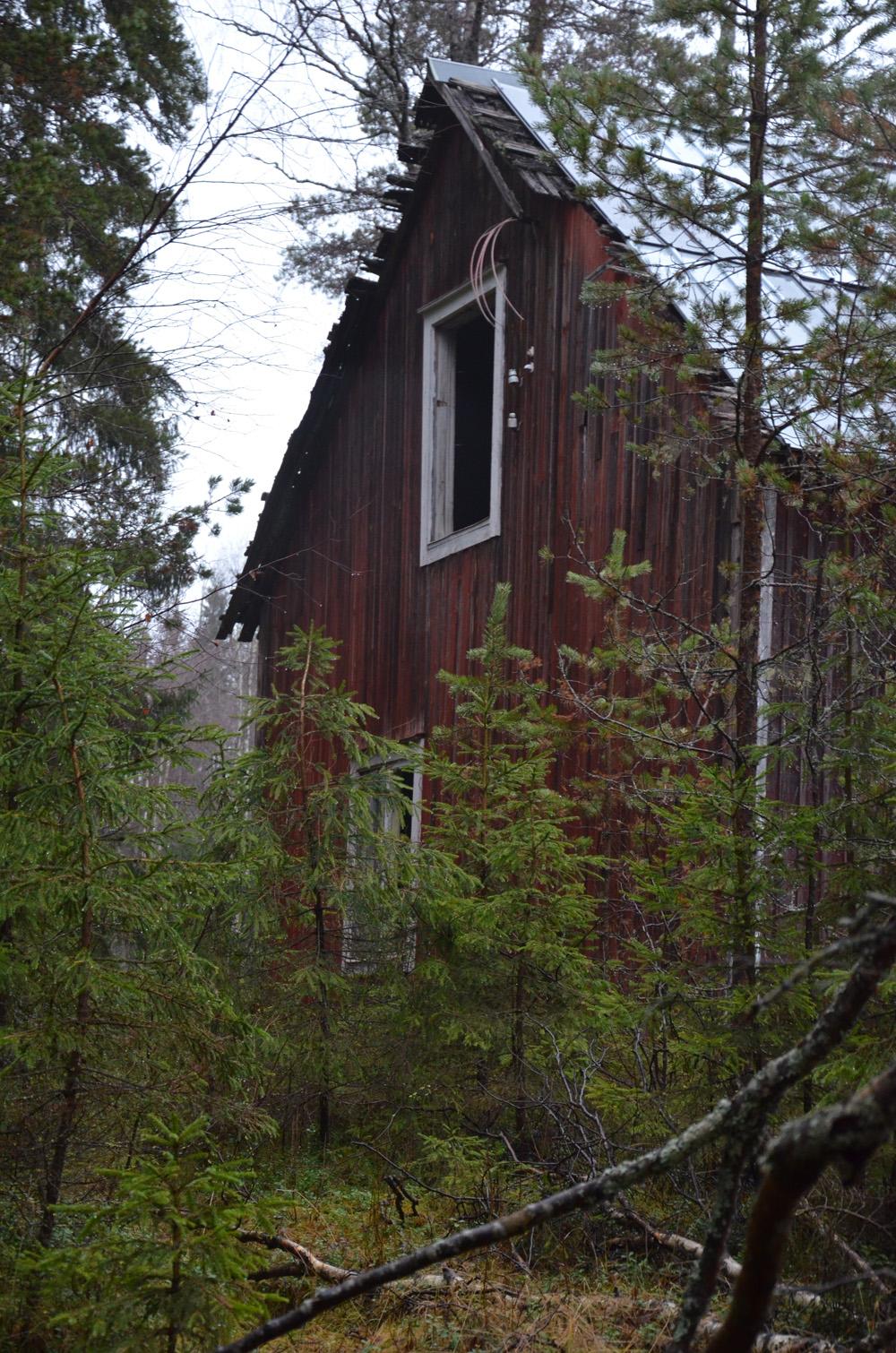 övergivet hus