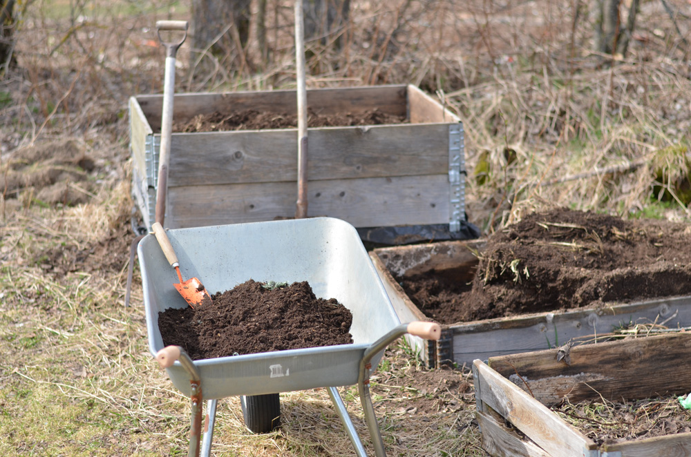 vända kompost
